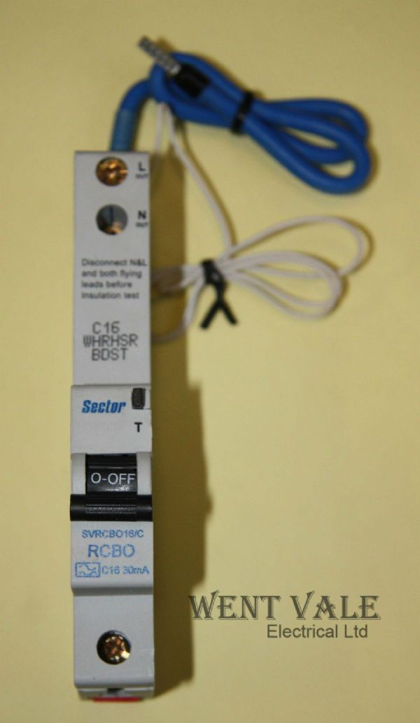 Sector SVRCBO16/C - 16a 30mA Type C Single Pole RCBO Un-used in box